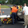 Three car pile up sends two to hospital