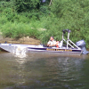 Rescued boaters boat recovered by Houston County Rescue Unit