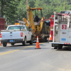 UPDATED with pictures: Ruptured Gas Line on Honeysuckle Road